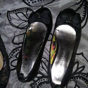 Girls black dress heels